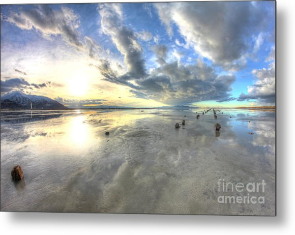 Cloudy Perspective Metal Print