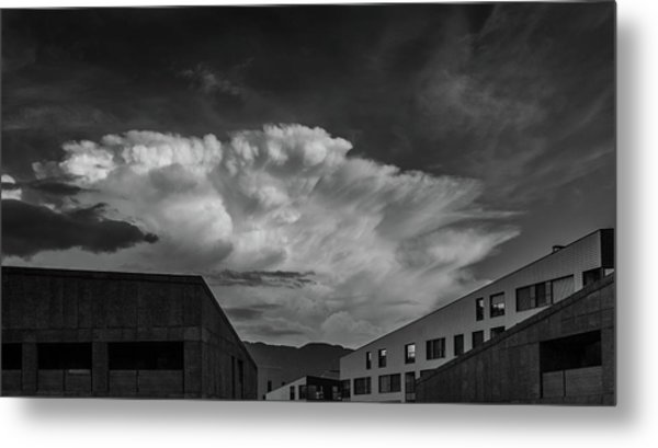 Cloudy Sky Over Bolzano Metal Print