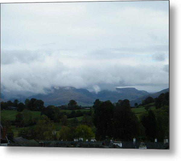 Cloudy View Metal Print
