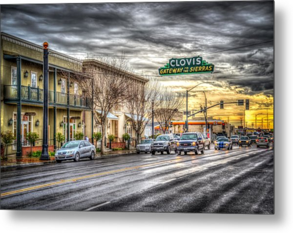 Clovis California Metal Print