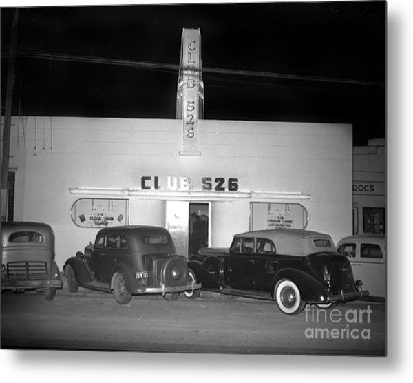 Club 526  Henry Franci, Salinas 1941 Metal Print