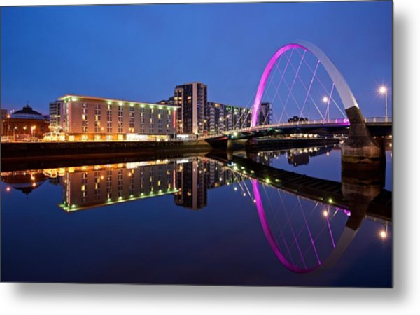 Clyde Arc Glasgow Metal Print