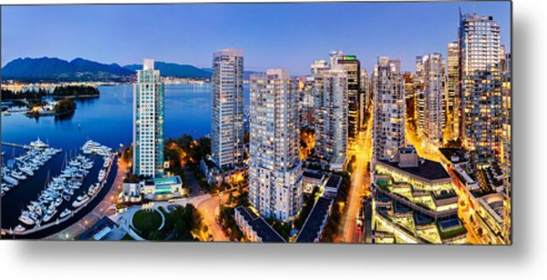 Coal Harbour In Vancouver Metal Print