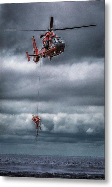 Coast Guard Rescue Operation  Metal Print