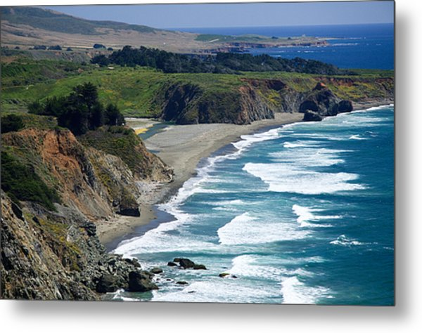 Coast Near Ragged Point Metal Print