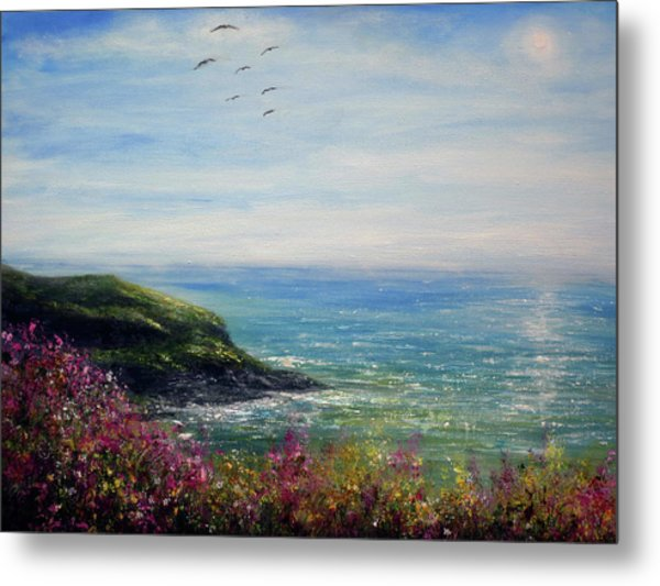 Coast Of Cornwall Metal Print by Ann Marie Bone