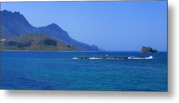 Coast Of Gramvousa Metal Print