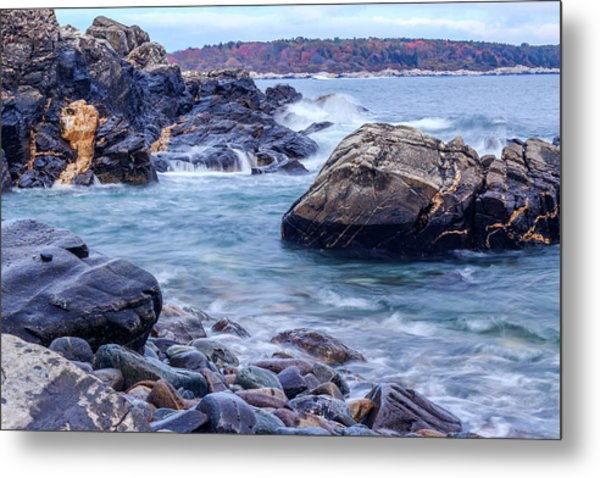 Metal Print featuring the photograph Coast Of Maine In Autumn by Doug Camara