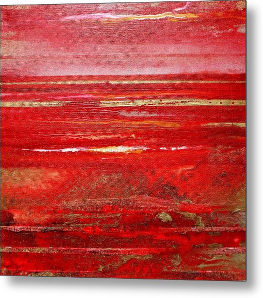 Coast Series Red Am8 Metal Print by Mike   Bell