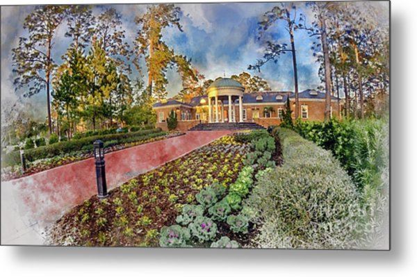 Coastal Carolina University Digital Watercolor Metal Print
