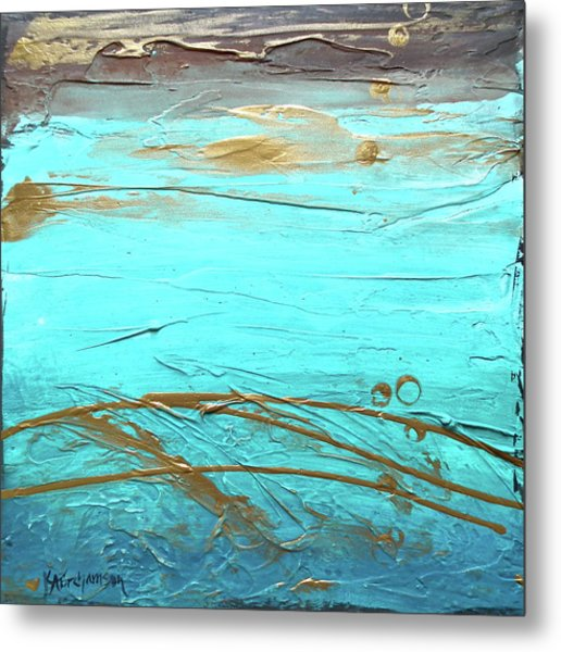 Coastal Escape II Textured Abstract Metal Print