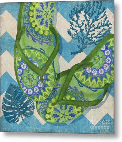 Coastal Flip Flops II Metal Print by Paul Brent