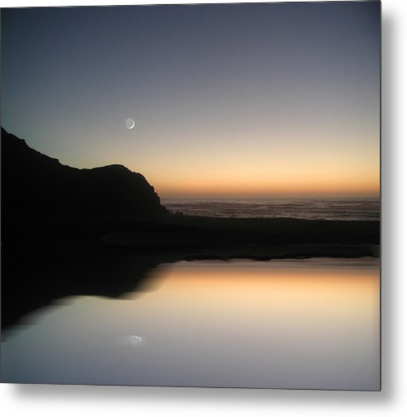Coastal Moon Metal Print