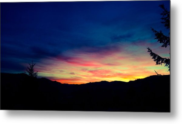 Coastal Mountain Sunrise Ix Metal Print
