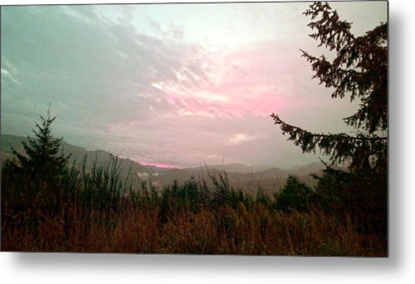 Coastal Mountain Sunrise Viii Metal Print