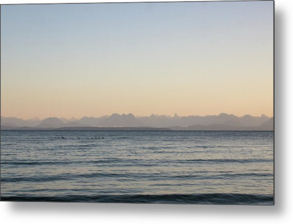 Coastal Mountains At Sunrise Metal Print