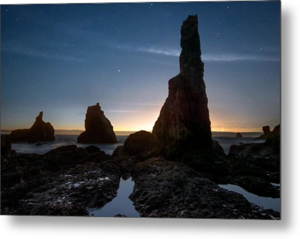 Coastal Night Serenity Metal Print by Leland D Howard