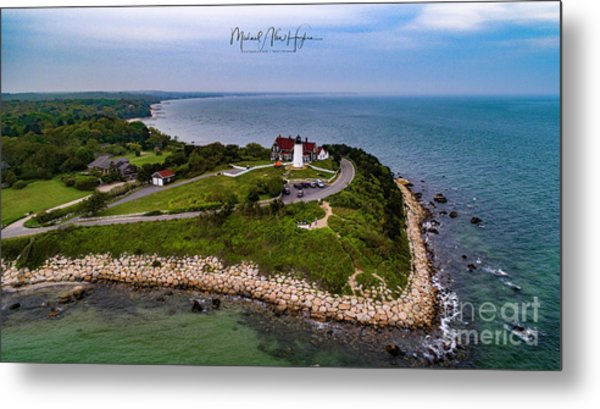 Coastal Nobska Point Lighthouse Metal Print