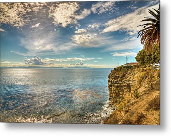 Coastal Ocean View Metal Print