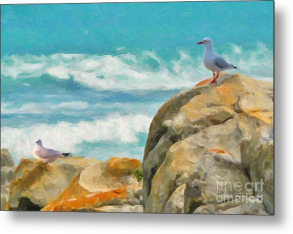 Coastal Rocks Metal Print