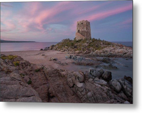 Coastal Tower At Sunset Metal Print