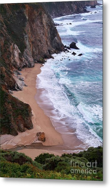 Coastal View At Big Sur Metal Print