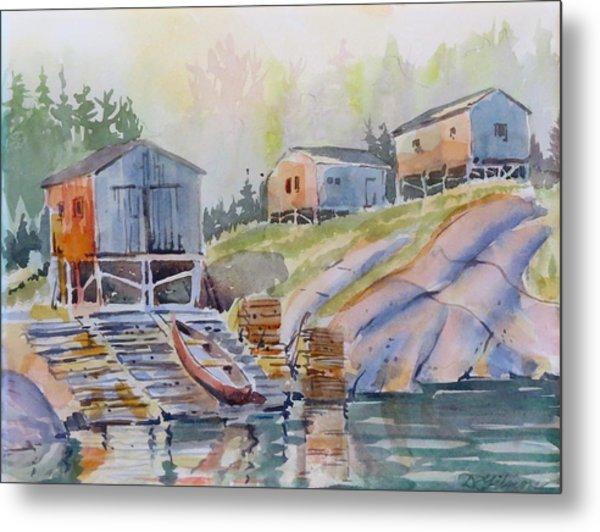 Coastal Village - Newfoundland Metal Print