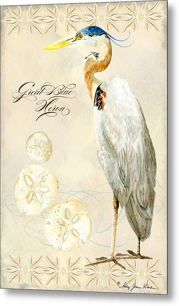 Coastal Waterways - Great Blue Heron Metal Print