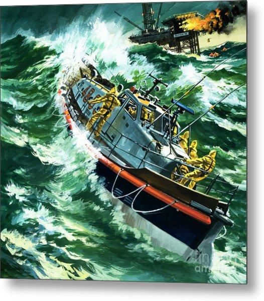 Coastguard Lifeboat Metal Print