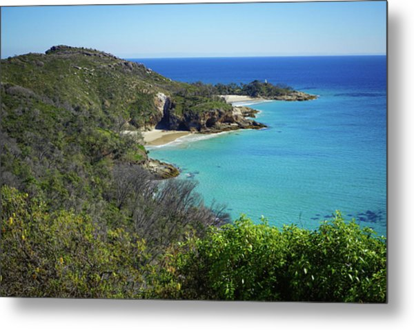 Coastline Views On Moreton Island Metal Print