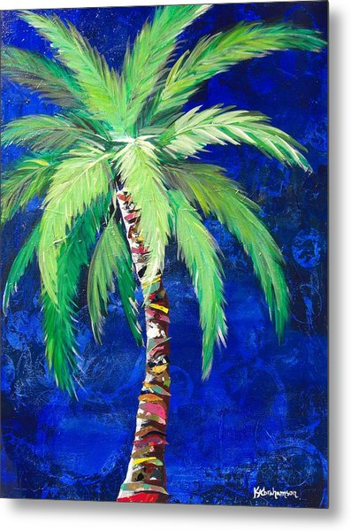 Cobalt Blue Palm II Metal Print