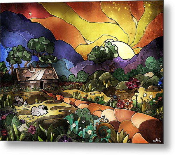 The Shepherd's Cottage Metal Print