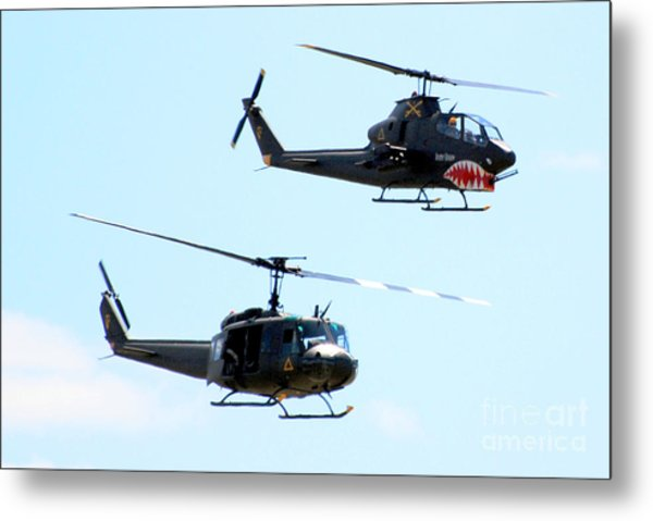 Cobra And Huey Metal Print by Larry Keahey