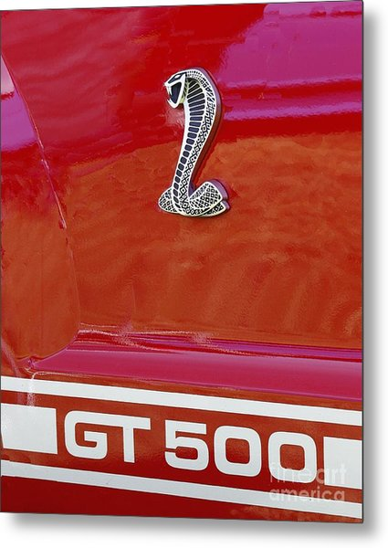Cobra Gt 500 Emblem Metal Print
