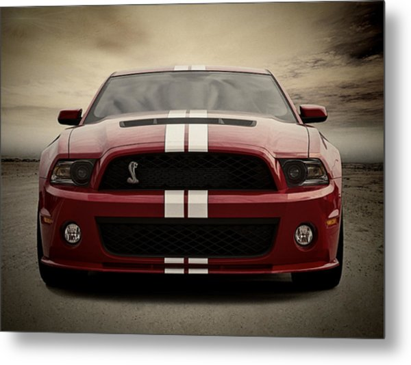 Cobra Red Metal Print