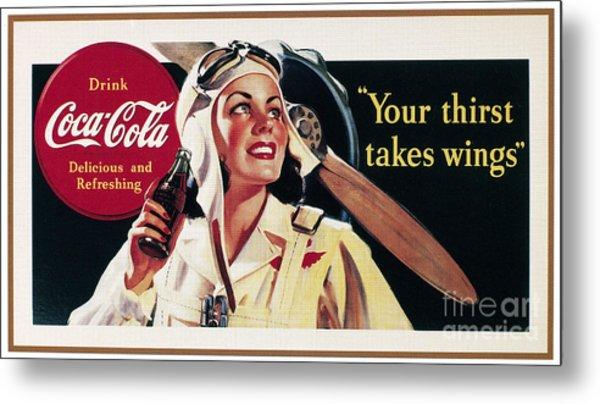 Coca-cola Ad, 1941 Metal Print by Granger