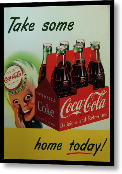 Metal Print featuring the photograph Coca Cola Antique Sign by Chris Flees