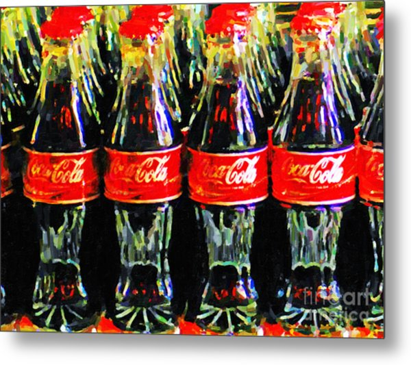 Metal Print featuring the photograph Coca Cola Coke Bottles by Wingsdomain Art and Photography