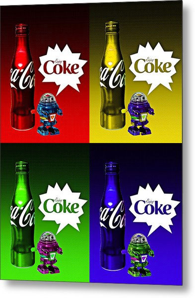 Metal Print featuring the photograph Coca-cola Forever Young 12 by James Sage