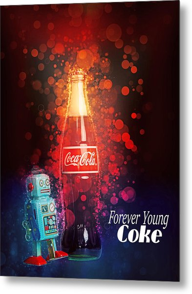 Coca-cola Forever Young 15 Metal Print