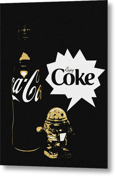 Metal Print featuring the photograph Coca-cola Forever Young 7 by James Sage
