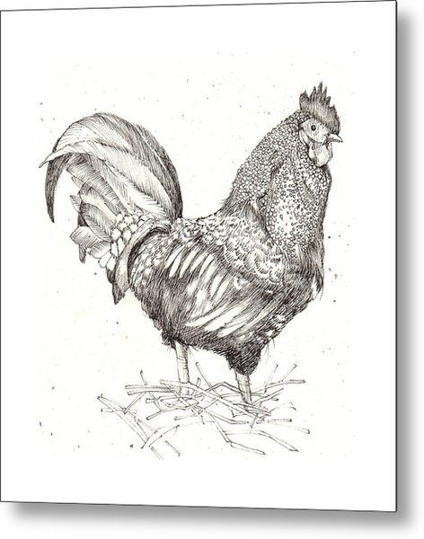 Cock Of The Walk Metal Print by Deborah Wetschensky