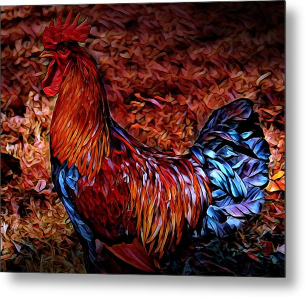 Cock Rooster Metal Print