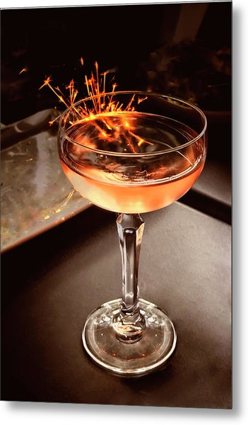 Cocktail Dazzle Metal Print