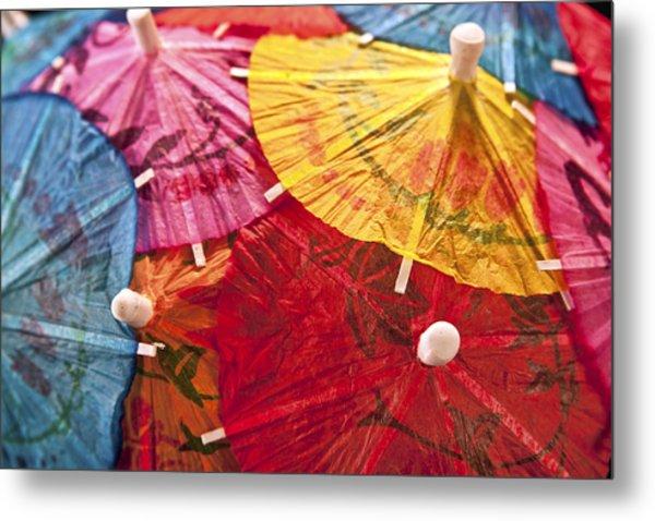 Cocktail Umbrellas V Metal Print