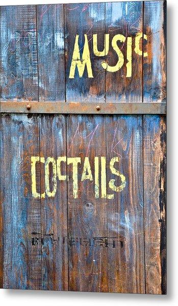 Cocktails Metal Print by Keith Sanders