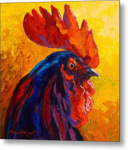 Cocky - Rooster Metal Print