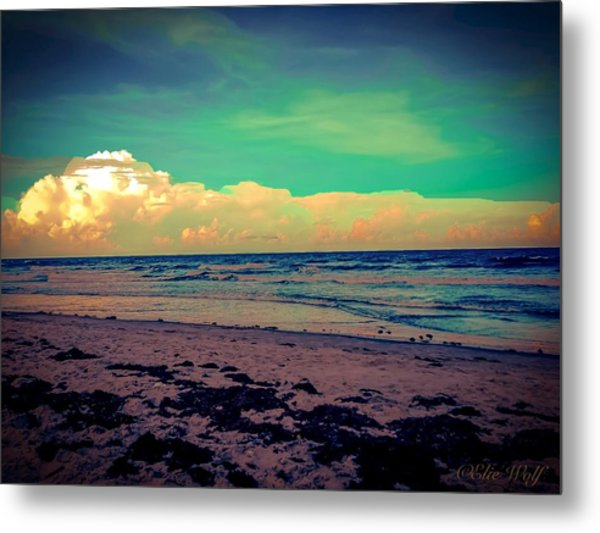 Cocoa Beach At Dusk Metal Print