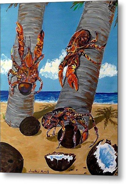 Coconut Crab Cluster Metal Print