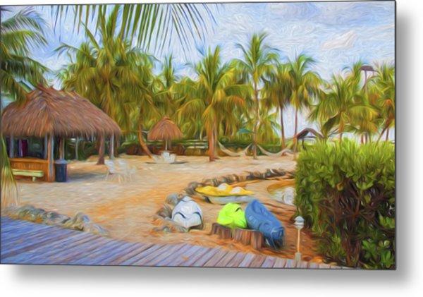 Coconut Palms Inn Beach Metal Print